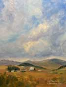 Before the Harvest San Luis Obispo Fields oil painting