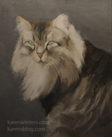 Brown Tabby Cat painting pet portrait