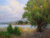 By the Bay Sweet Springs Morro Bay Oil Painting by karen Winters