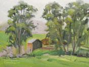 Cambria Farm Central Coast California oil painting