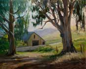 Cambria Ranch Oil Painting Central Coast Landscape Eucalyptus oil painting