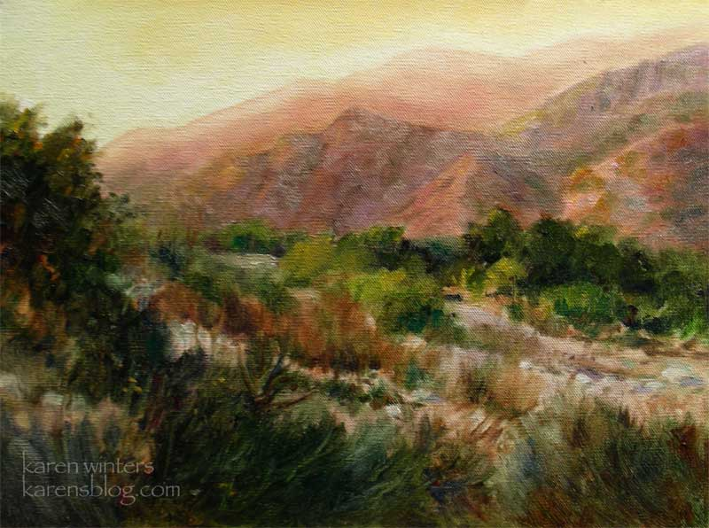 Canyon Spirit Eaton Canyon Altadena Pasadena Oil Painting