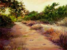 Sunset Trail Cobb Estate Pasadena oil painting