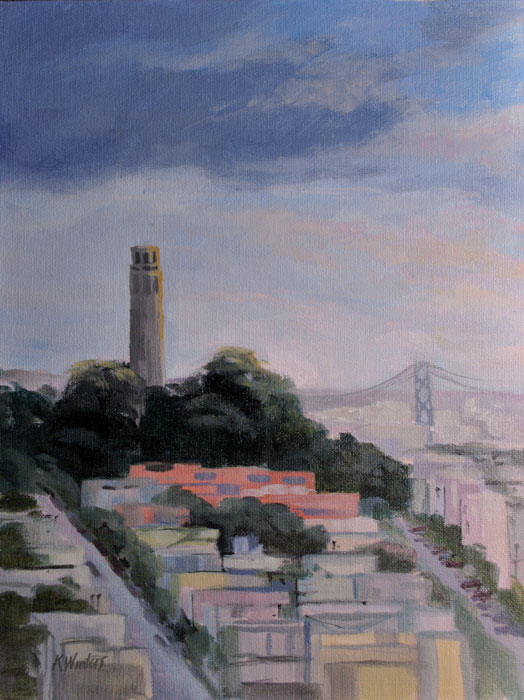 San francisco paintings by karen winters bay area oil for San francisco landscape
