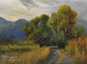 Cottonwood road Bishop eastern sierra oil painting