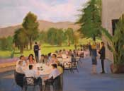 Country Club wedding reception painting
