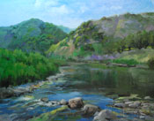 Malibu Creek State Park creek oil painting
