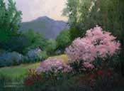 Descanso Gardens Rosarium with Crepe Myrtle oil painting