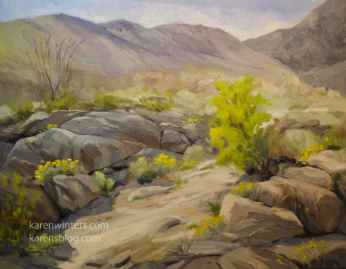 Desert Wildflowers Oil painting anza borrego state park