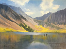 Convict Lake High Sierra oil painting by karen Winters