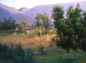 Farm near Ojai oil painting Ojai Valley