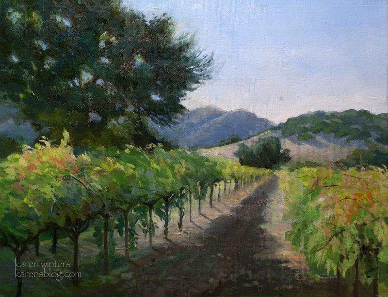 Vineyard Paintings By Karen Winters California And