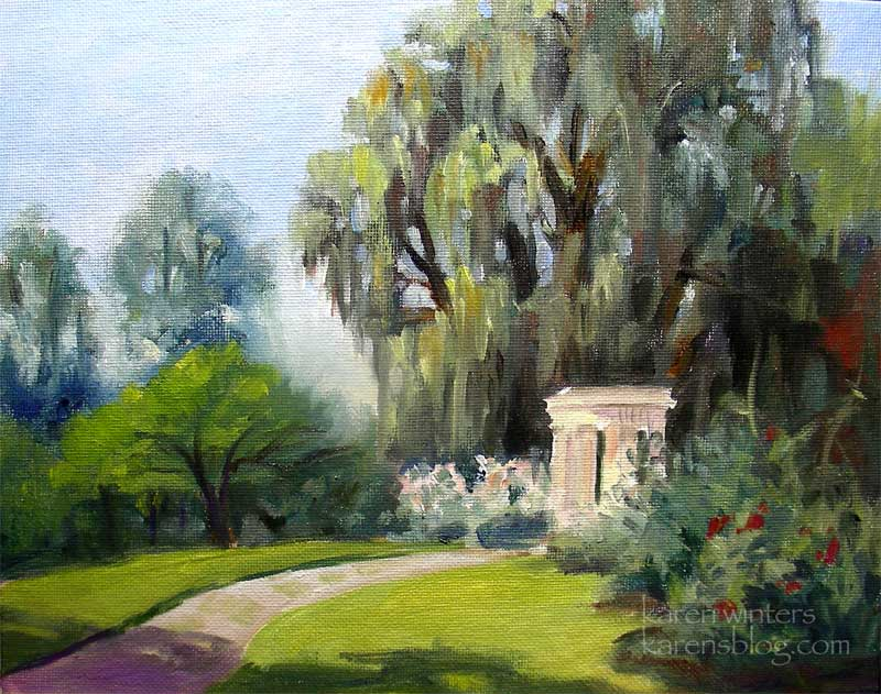 Garden of Love, Temple of Love, Huntington Gardens oil painting