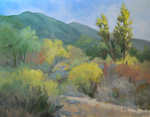 gentle springtime eaton canyon oil painting