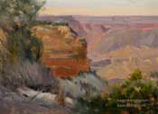 Grand Canyon Afternoon original oil painting powell point hopi point south rim plein air oil painting by Karen Winters