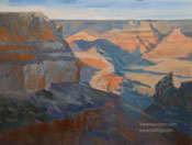 Grand Canyon View from El Tovar South Rim oil painting