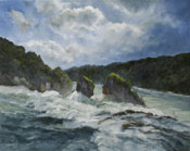 Great Falls of the Rhine - Switzerland Oil Painting