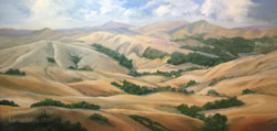 Great Golden Spaces California Rolling Hills Impressionist Plein Air style landscape oil painting art