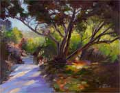 canyon oaks trail hall canyon california oil painting