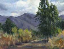 Oak Grove Park - La Canada Memories oil painting