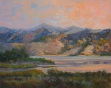 Lake Casitas Ojai oil painting