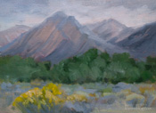 Lone Pine Field Study 6 x 8 oil painting, Sierra Nevada art by karen Winters