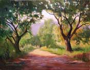 Long and winding road California trail oil painting by Karen Winters