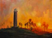 Long Beach Lighthouse of Sight Lions Club Painting