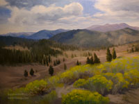 Monitor Pass, Early Autumn oil painting Eastern Sierra California landscape