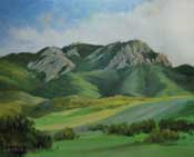 Mt. Boney - Satwiwa Park - Thousand Oaks, Newbury Park Conejo Valley Santa Monica Mountains landscape painting