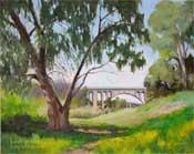 Arroyo Springtime Colorado Street Bridge Oil Painting SOLD