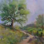 Pozo Road Spring Lupine Oak Road California Impressionist Painting