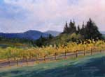 Pride Mountain Vineyard St. Helena Spring Mountain Vineyard Winery Landscape Oil Painting, California impressionist Karen Winters