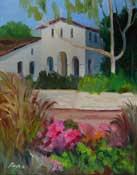 San Luis Obispo Mission Plein Air Quick Draw painting SLO museum 2012