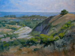San Mateo Creek San Clemente Trestles surfing oil painting