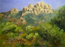 Sandstone Peak Boney Mountain oil painting