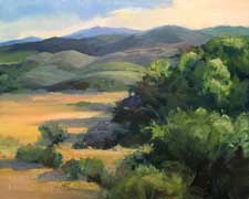 sierra foothills oil painting