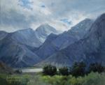 Sierra Light Whitney Portal oil painting Lone Pine art