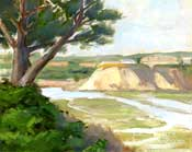 Newport Beach Back Bay oil painting