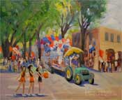 So. Pasadena Fourth of July Parade plein air painting