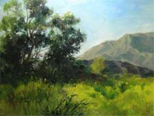 hahamongna arroyo seco spring meadow oil painting