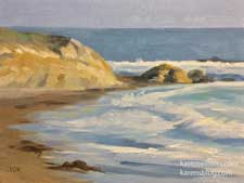 That Moonstone Beach Day oil painting 6 x 8 inches