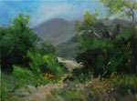 The Canyon Calls - Eaton Canyon Altadena Pasadena California Landscape Oil Painting by Karen Winters SOLD