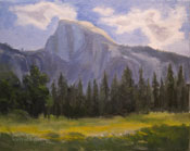 Yosemite Half Dome Oil Painting